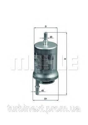 Фильтр топливный Skoda Fabia/VW Polo 1.2/1.4 01- KNECHT KL 176/6D