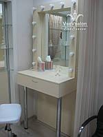 Стол для макияжа на хромированных опорах. Модель А0017 крем., фото 1