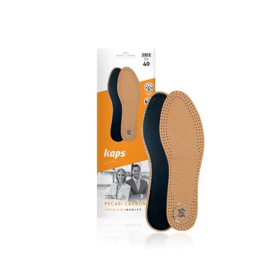 Kaps Pecari Carbon - Кожаные стельки для обуви 42