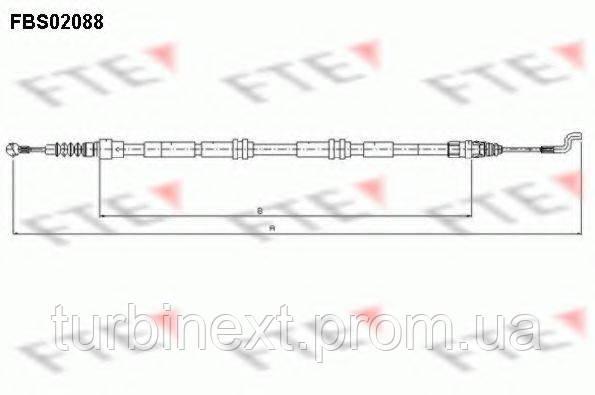 Трос ручника (задний) VW T5 (1303/1005mm) FTE FBS02088
