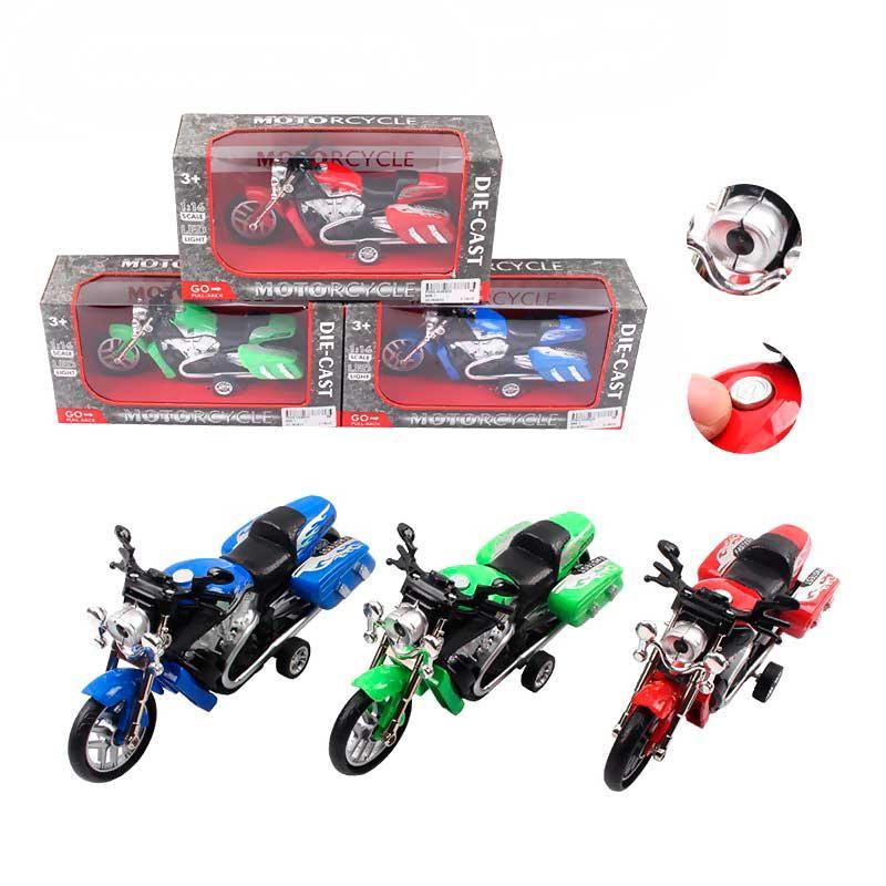 Металлический мотоцикл 666-1