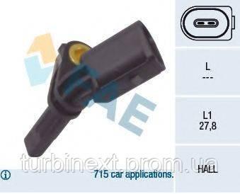 Датчик ABS (передний) VW T5 1.9-3.2 03-/Caddy III 1.4-2.0TDi 04-15 (R) FAE 78064