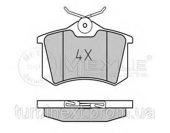 Колодки тормозные (задние) VW Caddy III 04-/Peugeot 308 07-/Citroen C4 04- (87.1x52.8x17.2) MEYLE 025 209 6117