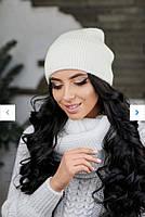 Женская зимняя вязаная, теплая на флисе. Размер универсальный, цвета разные., фото 1