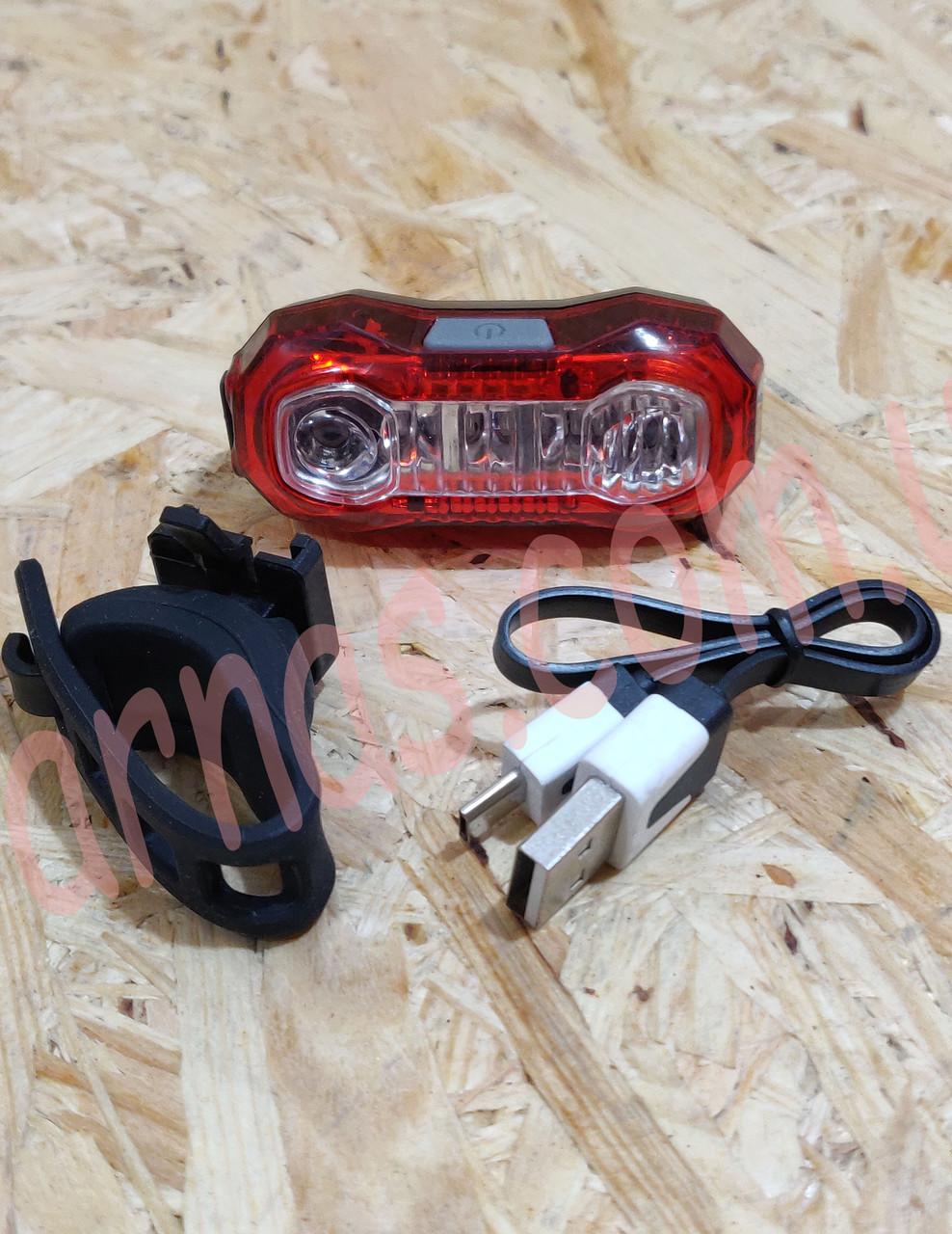 Фонарь велосипедный аккумуляторный BL-203 задний свет стоп