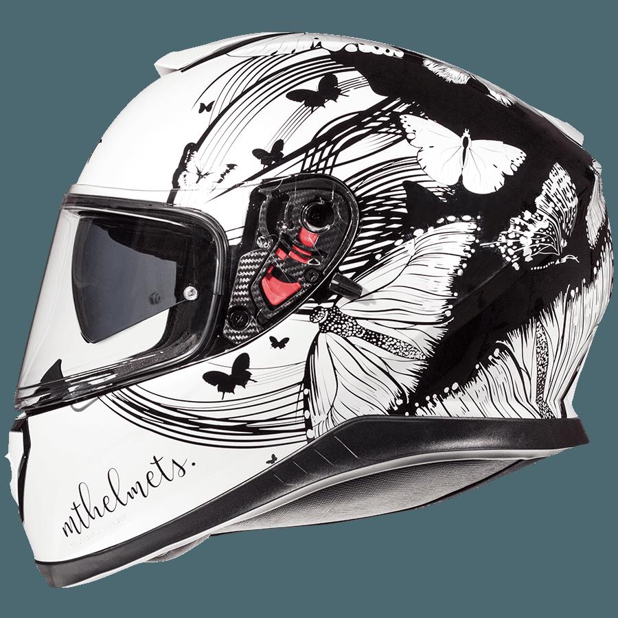 Мотошлем MT Thunder 3 Vlinder Gloss Pearl Black