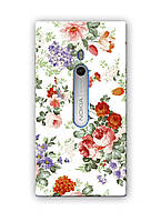 Чехол для Nokia Lumia 800 (Пионы)
