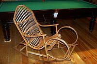 Кресло-качалка плетеное из лозы