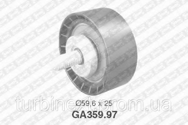 Ролик генератора Citroen Berlingo 1.8 D 98- (паразитний) (59.6x25x10) SNR GA359.97