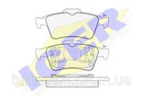Колодки тормозные (задние) Ford Connect/Renault Laguna II/Megane II 02- (Ate - Teves) ICER 181433