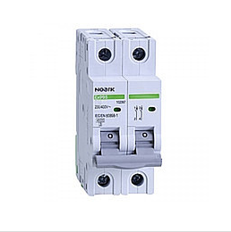 Автоматический выключатель Noark 6кА, х-ка B, 6А, 2P, Ex9BN, 100034, фото 2