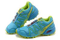 Женские кроссовки Salomon Speedcross 3 W02| саломон спайдкросс 3 W02 голубые