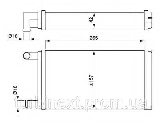 Радиатор печки MB 207-410D 86-94 NRF 53555