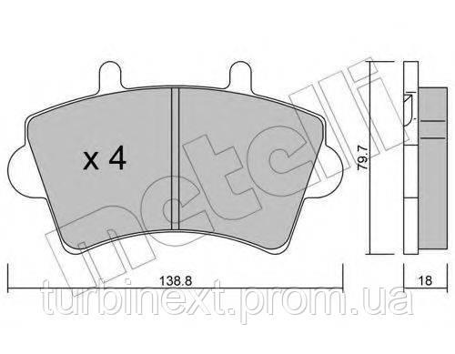 Колодки тормозные (передние) Renault Master 98- R16 METELLI 22-0545-0
