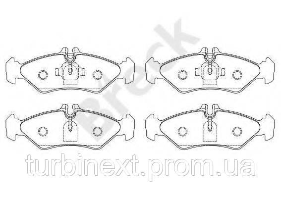 Колодки гальмівні BRECK 21621 00 705 10 (задні) MB Sprinter 208-316 96- (мала)