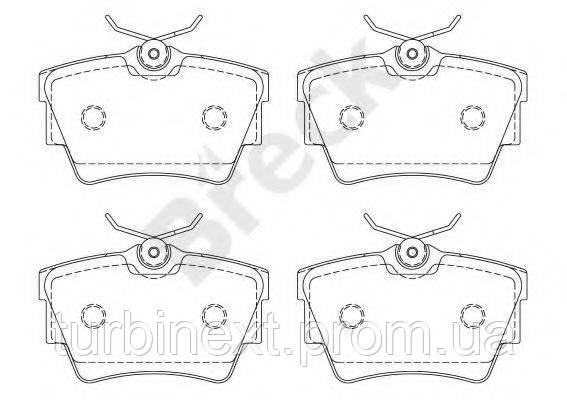 Колодки тормозные (задние) Renault Trafic/Opel Vivaro 01- BRECK 23980 00 703 00
