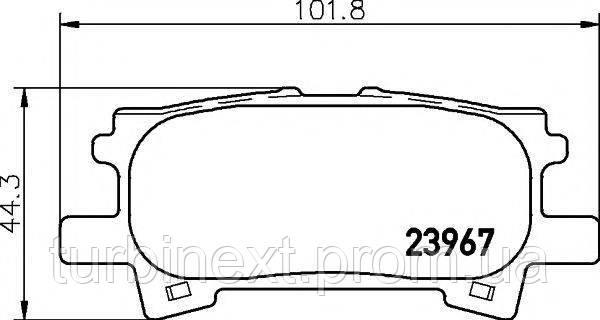 Колодки гальмівні (задні) Lexus RX 03-08 TEXTAR 2396701