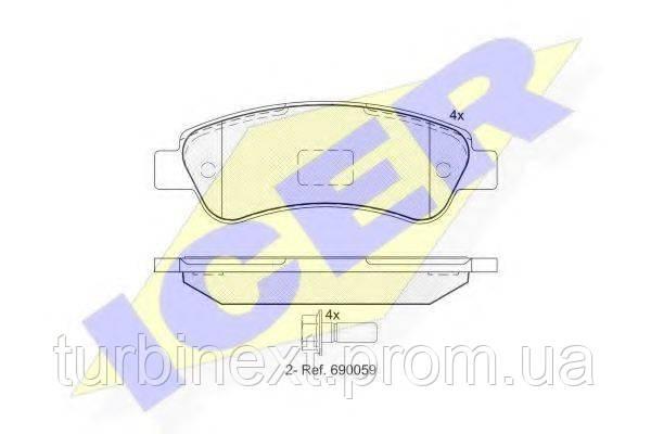 Колодки тормозные (задние) Fiat Ducato/Citroen Jumper/Peugeot Boxer 06- (Bosch) ICER 141804