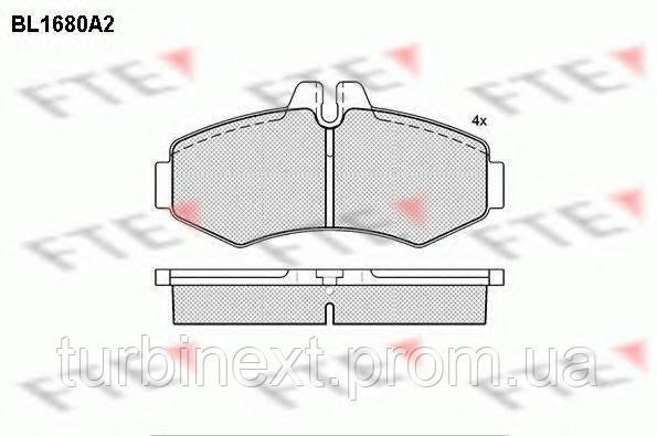 Колодки тормозные (передние) MB Vito (W638) 96- FTE BL1680A2