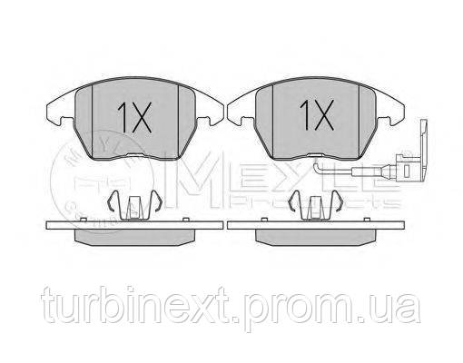 Колодки гальмівні (передні) VW Caddy 03- (вушка вниз) MEYLE 025 235 8720/W