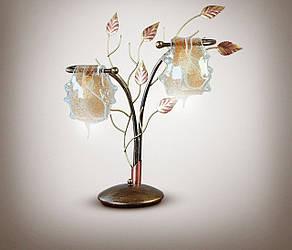 Настільна лампа, 2-х лампова, флористика 7920