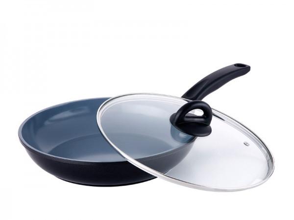 Сковорода покрытие керамика 28 см Bergner BG-8633