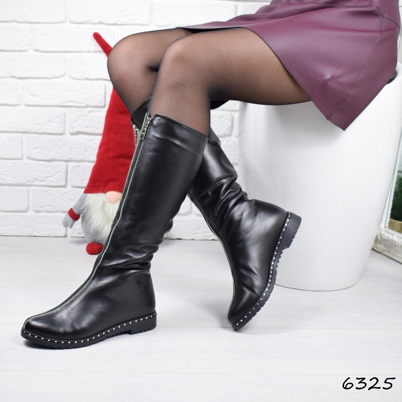 Сапоги женские Terry черные 6325 ЗИМА
