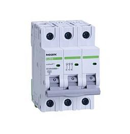 Автоматический выключатель Noark 6кА, х-ка B, 6А, 3P, Ex9BN, 100049, фото 2