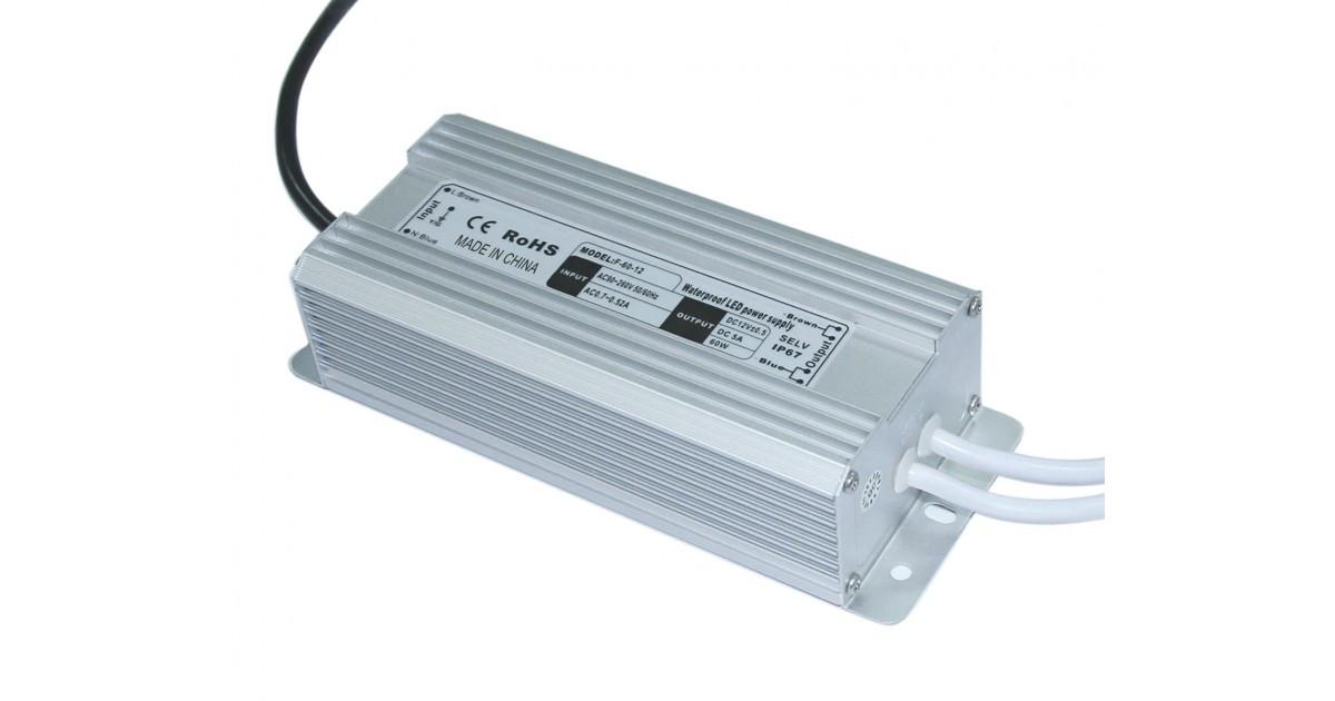 Блок питания 12V 60W (5A) IP67 MET