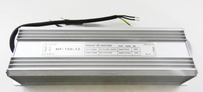 Блок питания 12V 150W (12.5A) IP67 MET