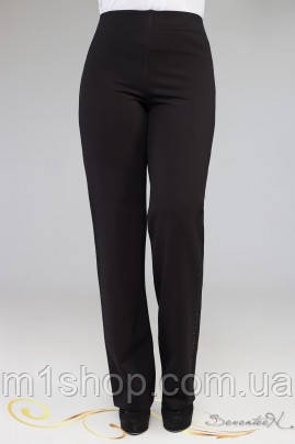 Женские черные брюки со стразами для пышных (1917 осень-зима svt), фото 2