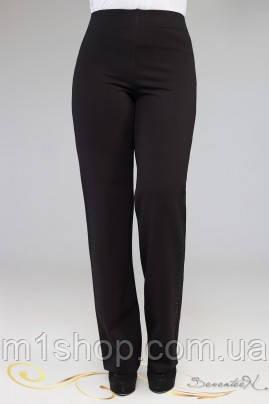 Женские черные брюки со стразами для пышных (1917 осень-зима svt)