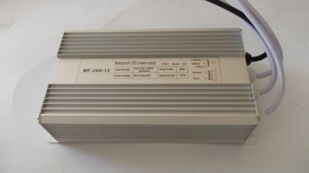 Блок питания 12V 200W (16A) IP67 MET