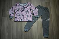 Піжама дитяча байка з манжетами на 2-6 років
