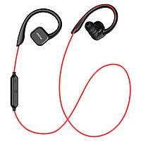 Беспроводные Bluetooth наушники QCY QY13 с заушинами и поддержкой aptX (Черно-красный), фото 1