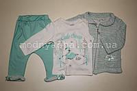 Костюм-трійка для дівчинки 6-9 місяців