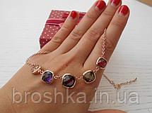 Ожерелье из крупных разноцветных камней Swarovski, фото 3