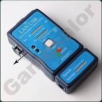 Электронный тестер кабеля сетевого и телефонного RJ-45, RJ-11, USB