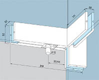 Крепление фрамуги верхнего света и ребра жесткости для стеклянных дверей и перегородок из стекла