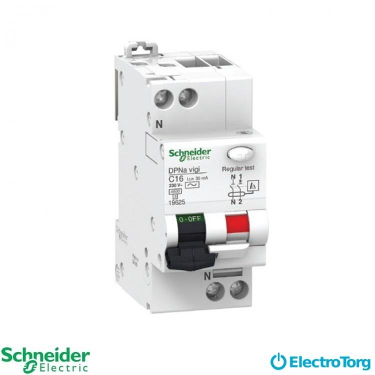 Дифференциальный автоматический выключатель DPN N VIGI 6КА 16A C30МA Schneider Electric
