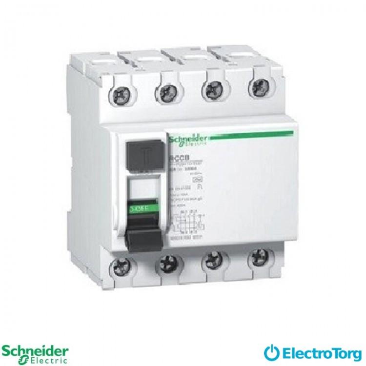 Дифференциальный автоматический выключатель DPN N VIGI 3P+N 30MA 40A C AC Schneider Electric