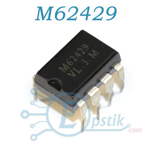 M62429, двухканальный регулятор громкости с цифровым управлением, DIP8