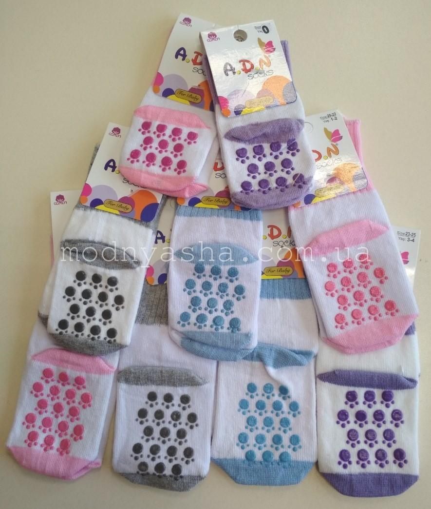 Шкарпетки дитячі з тормозками 0-4 роки