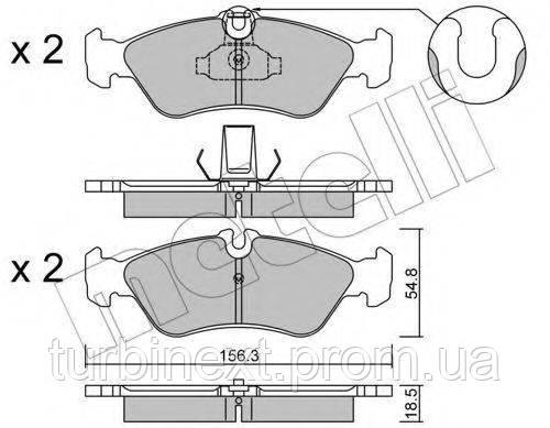 Колодки гальмівні (задні) MB Sprinter 208-316 96- (велика) METELLI 22-0311-0
