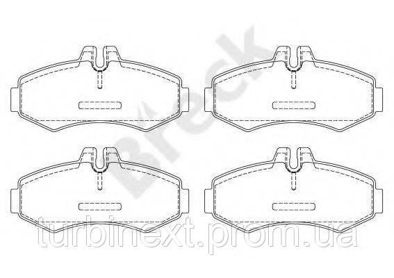 Колодки тормозные (передние) MB Vito (W638) 96- BRECK 23022 00 703 20