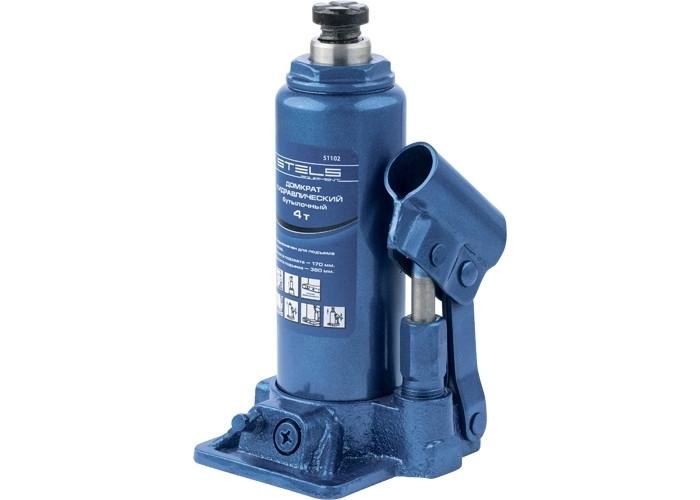 Домкрат гидравлический бутылочный, 4 т, h подъема 194-372 мм // STELS