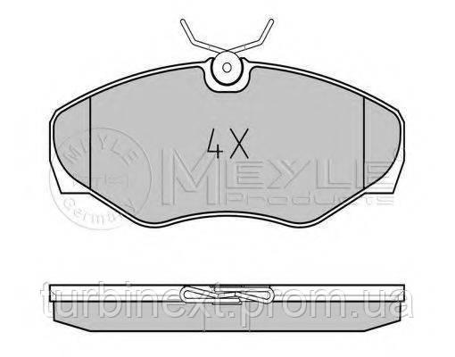 Колодки тормозные (передние) Renault Trafic, Opel Vivaro 01- MEYLE 025 230 9918