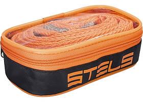 Трос буксирний 2,5 тонни, 2 крюка, сумка на блискавці // STELS
