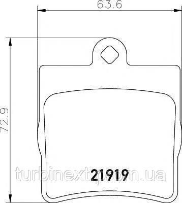 Колодки гальмівні (задні) MB (W202/203/208/210) 93-11 (Teves) Q+ TEXTAR 2191901