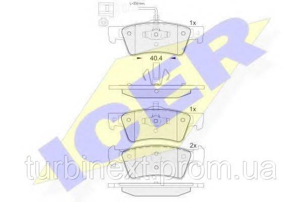 Колодки гальмівні (задні) VW T5 03- (Ate-Teves)/(з датчиком) ICER 141816